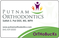 Putnam Orthodontics + OrthoBucks card